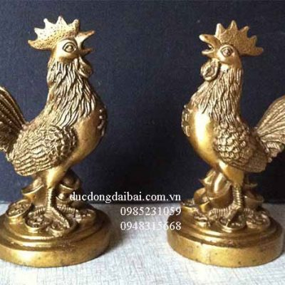 Đôi gà trống bằng đồng
