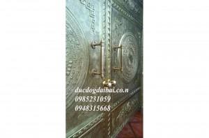 Cổng phù điêu trang trí biệt thự bằng đồng