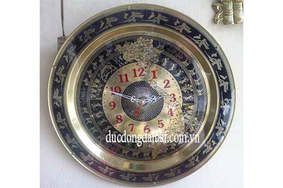 Đồng hồ mặt trống bằng đồng