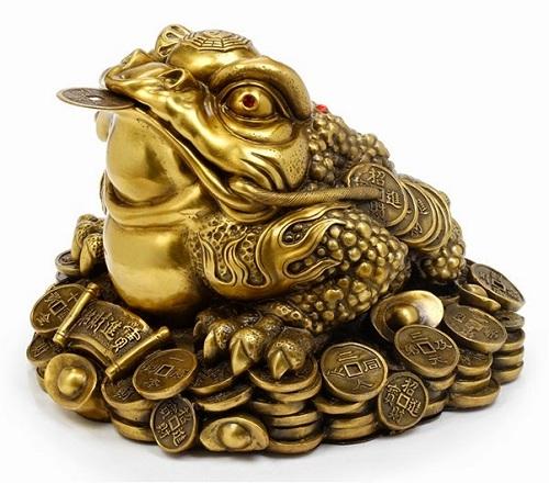 Ý nghĩa của cóc 3 chân ngậm Thiền Thử phong thủy bằng đồng